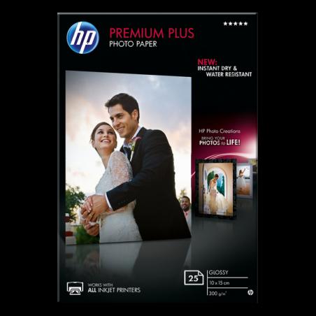 Papier photo finition brillante HP Premium Plus-25 feuilles /10x15 cm