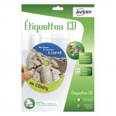 ETIQUETTES AVERTY CD  30 ETIQUETTES 15 FEUILLES A4