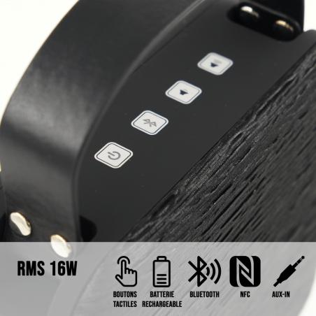 Enceinte H.Audiobag BT Halterrego NFC Boutons tactile Epi Noir