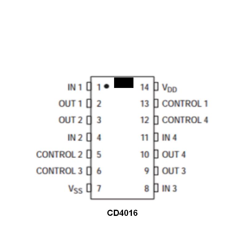 4 interrupteurs analogiques