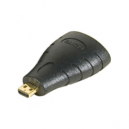 Adaptateur micro HDMI (M) vers HDMI (F) or