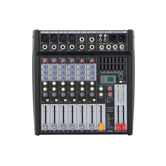 La DA MX 8 USB est une console de mixage analogique 6 canaux