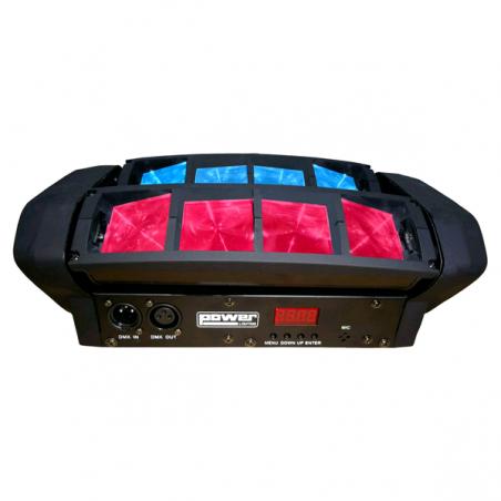 Jeu de lumière 8x12W effet LED RGBW POWER Spider Pocket Quad