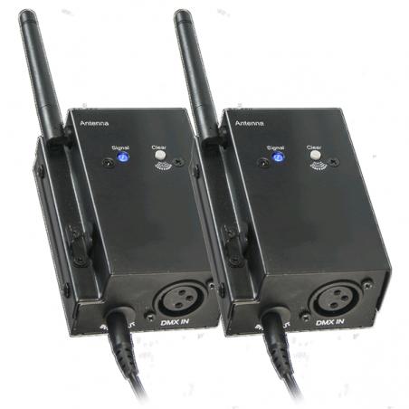 Système DMX sans-fil se composant d'un boîtier émetteur et d'un boîtier récepteu