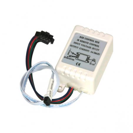 Contrôleur avec télécommande à infrarouge pour commander les flexibles à LED RVB