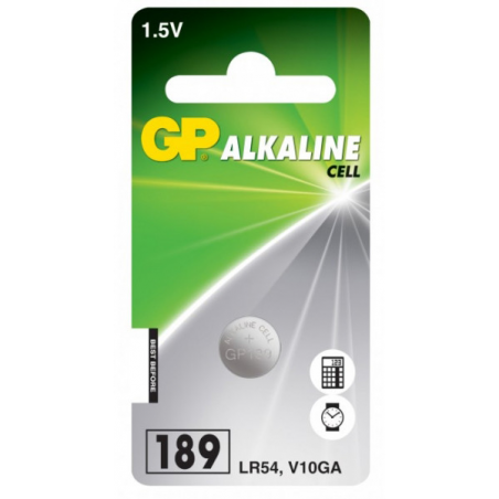 Piles bouton alcaline GP1.5V AG10 /LR54 /LR1131/V10GA l'unité