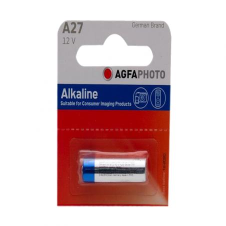 PILE ALKALINE AGFA 12V LR27   A27  unité