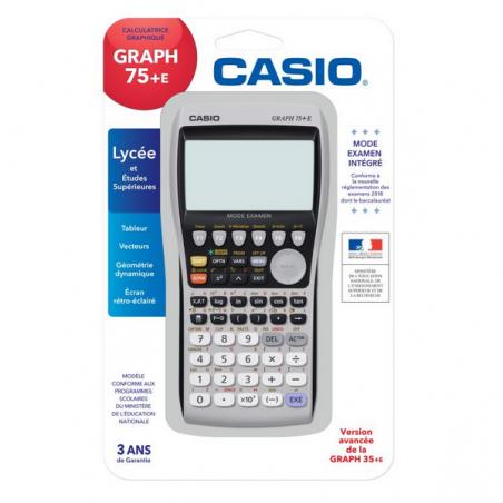 CALCULATRICE GRAPHIQUE CASIO GRAPH 75+E