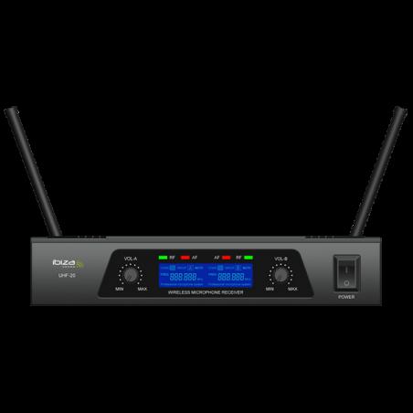 Système micro  UHF /2 MIC Freq. 863.90 & 864.90MHz UHF20