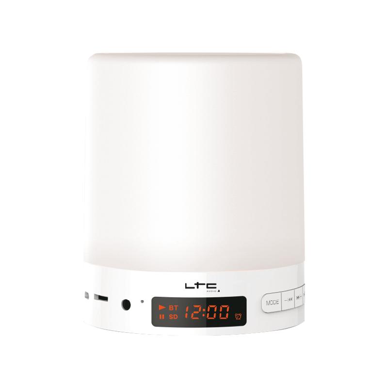 Radio-réveil avec lampe RVB tactile, FM, Bluetooth et fonction GSM
