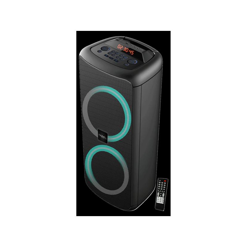 Enceinte IBIZA 2x25cm 1000W agrémentée par animation lumineuse Bluetooth, USB, m