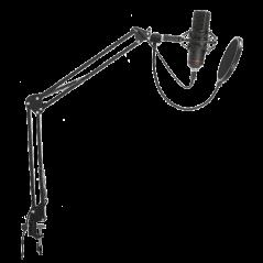 Microphone LTC USB cardioïde anti chocs spécialement conçu pour le streaming, po