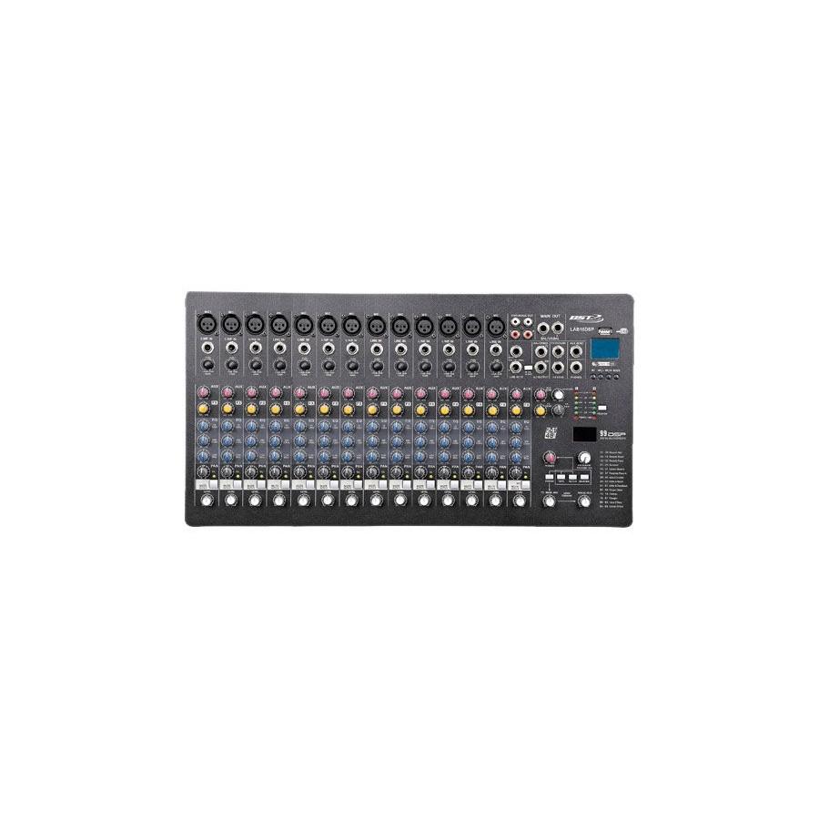 CONSOLE DE MIXAGE PROFESSIONNELLE BST - PRO MIXER 16 CHANNELS - DSP - USB PLAYER