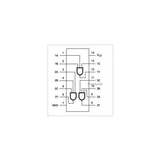 Circuit Logique HC/HCTMOS 74 HC 10