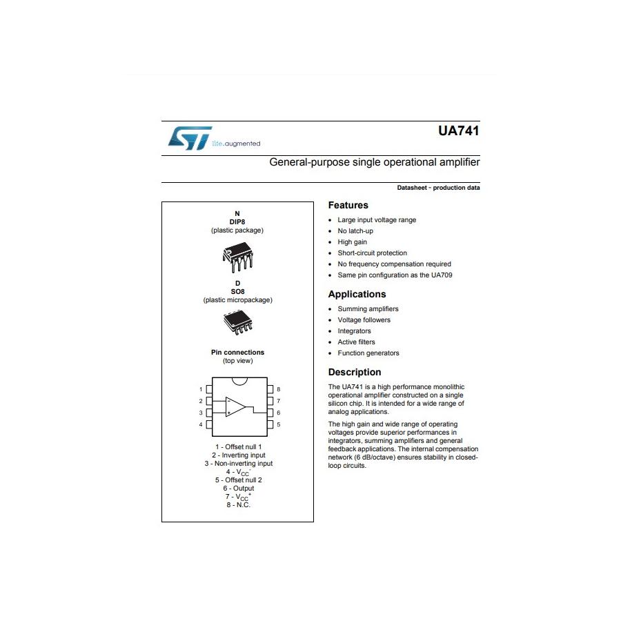 Amplificateur opérationnel simple à usage général
