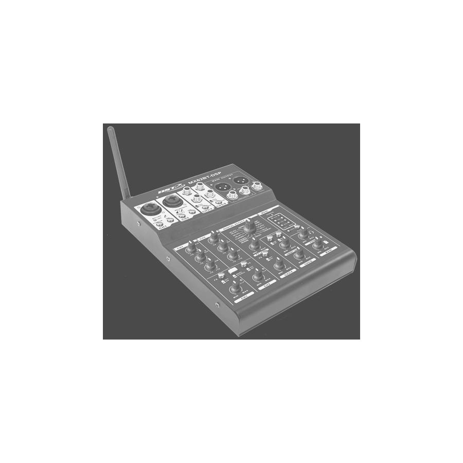TABLE MIXAGE 6 CHANNELS MIXER, USB SOUNDCARD, BT, DSP 16 SOUND EFFECTS