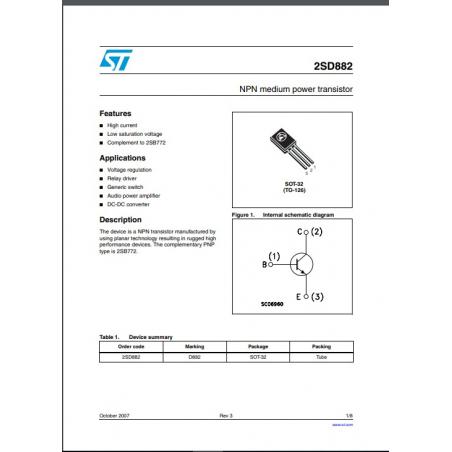Transistor  NPN  NF S L  lo sat  40V  3A  10W  90MHz