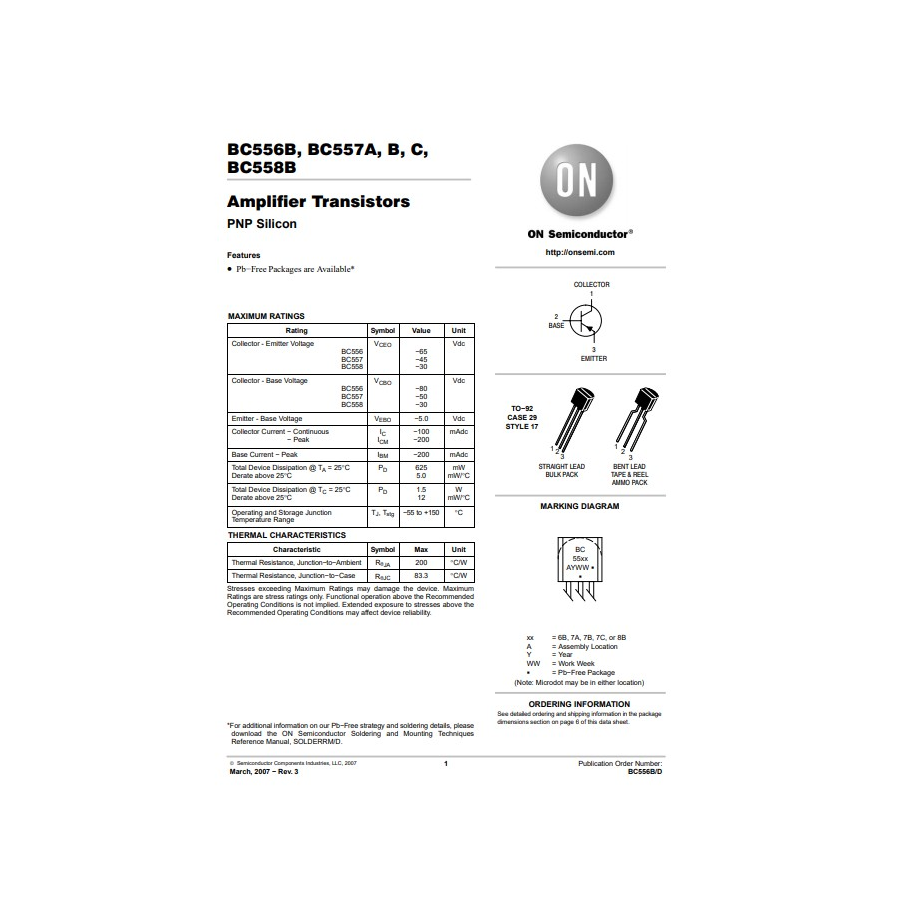 Transistor PNP Uni  30V  0 1A  0 5W  150MHz